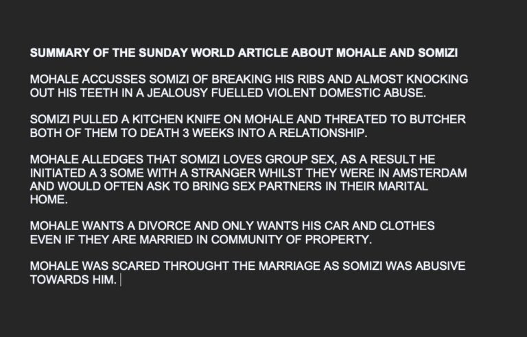 Somizi And Mohale Divorce