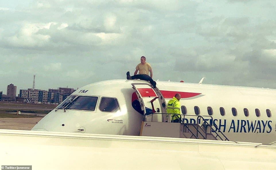 Man Glues Self With Superglue On Top Of British Airways Aircraft-iHarare