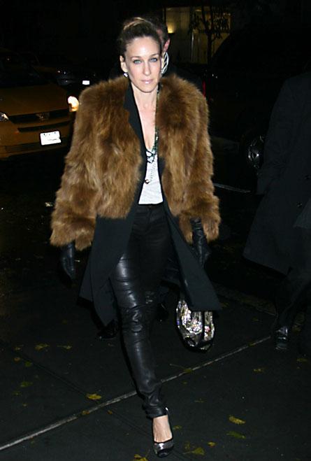 Sarah Jessica Parker in fur