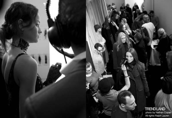 ralph lauren backstage nyfw10 19 600x413 From The First Sketches to the Runway: Exclusive Ralph Lauren Backstage