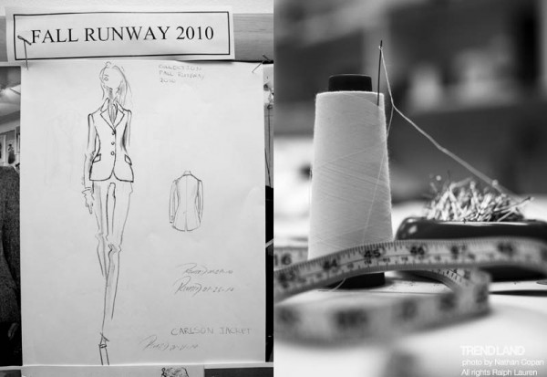 ralph lauren backstage nyfw10 3 600x413 From The First Sketches to the Runway: Exclusive Ralph Lauren Backstage
