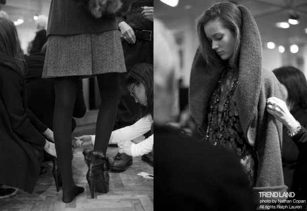 ralph lauren backstage nyfw10 6 600x413 From The First Sketches to the Runway: Exclusive Ralph Lauren Backstage
