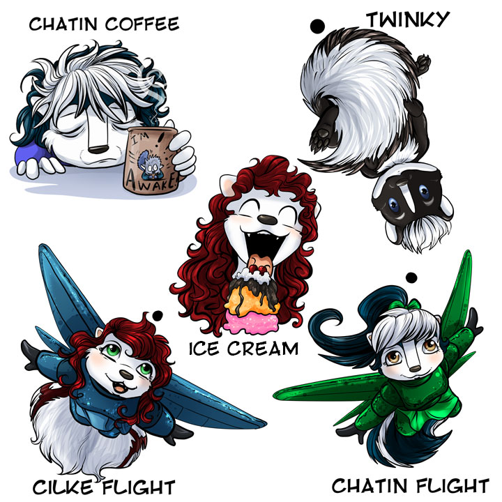 Skunk Charms!