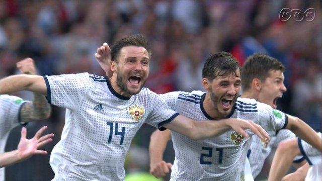 サッカーワールドカップ ロシア スペインを破る!