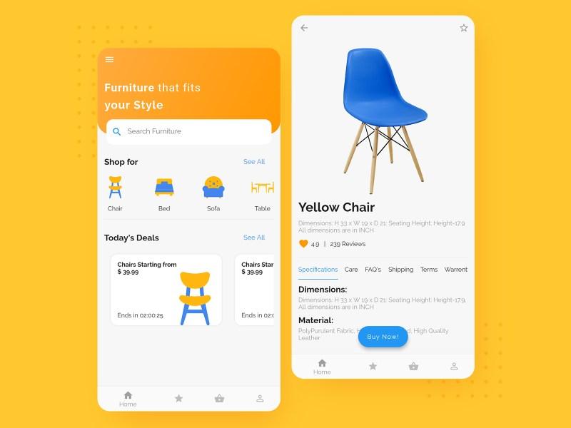 Flutter Tutorial: Furniture app UI - Cybdom Tech