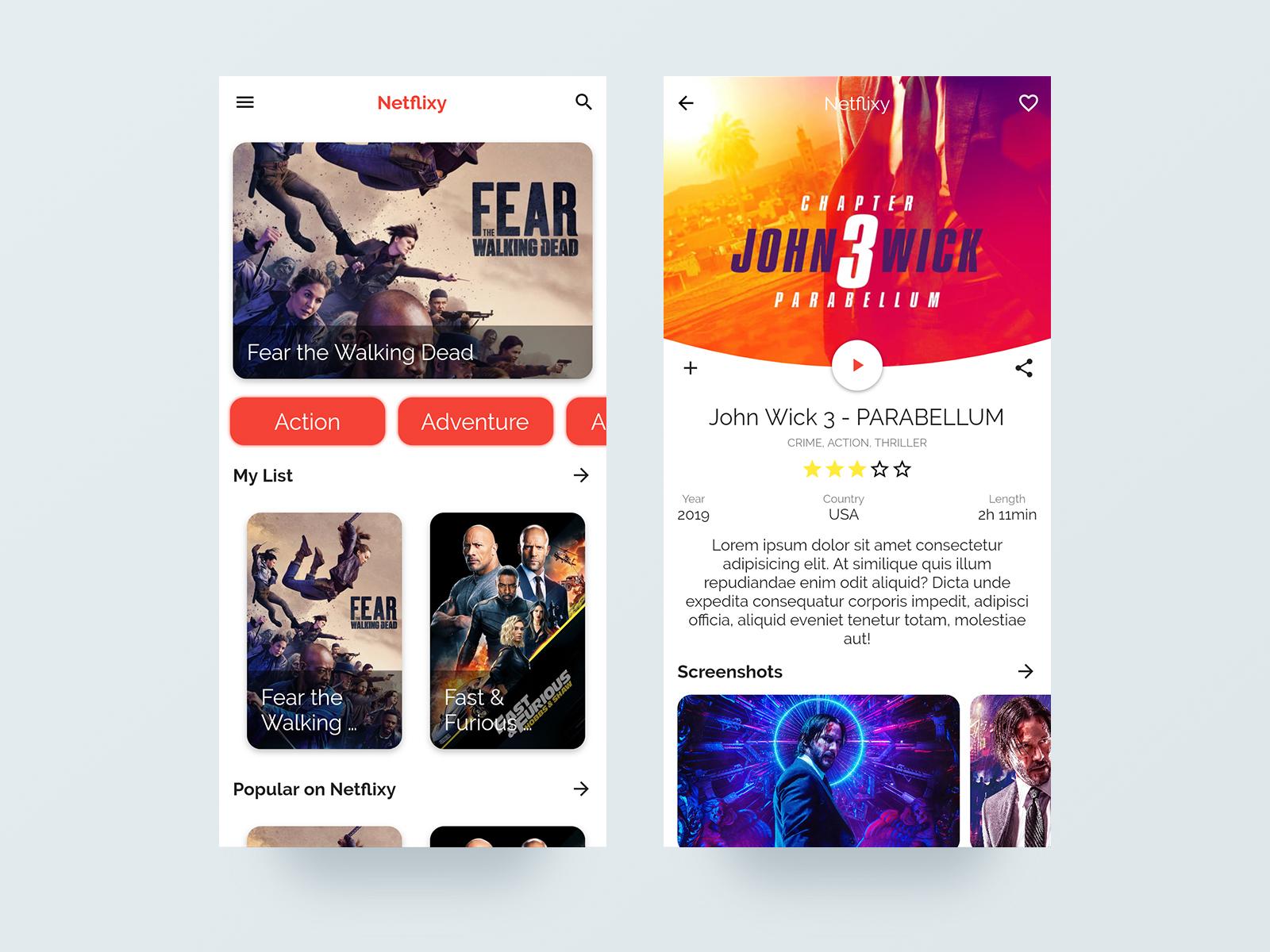 Flutter Tutorial: Movie Streaming App UI - Cybdom Tech