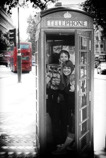 phone booths and buses