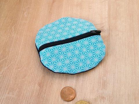portemonnaie-rond-bleu-face