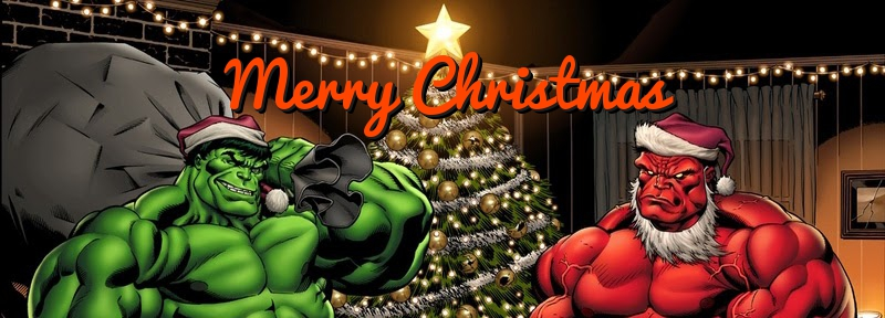 Free Hulk Christmas Card