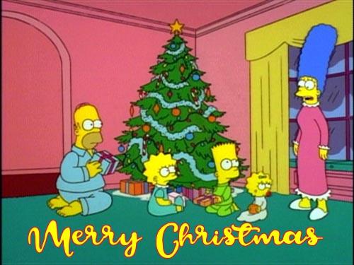 Free Simpsons Christmas Cards