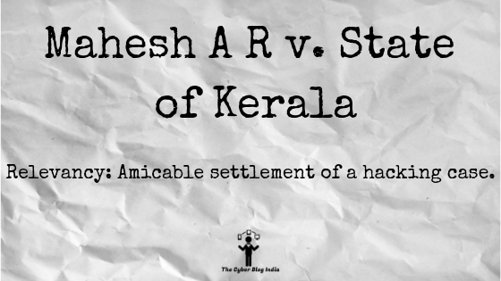 Mahesh A R v. State of Kerala