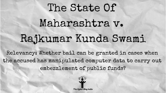 The State Of Maharashtra v. Rajkumar Kunda Swami