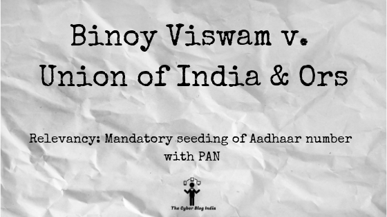 Binoy Viswam v. Union of India & Ors