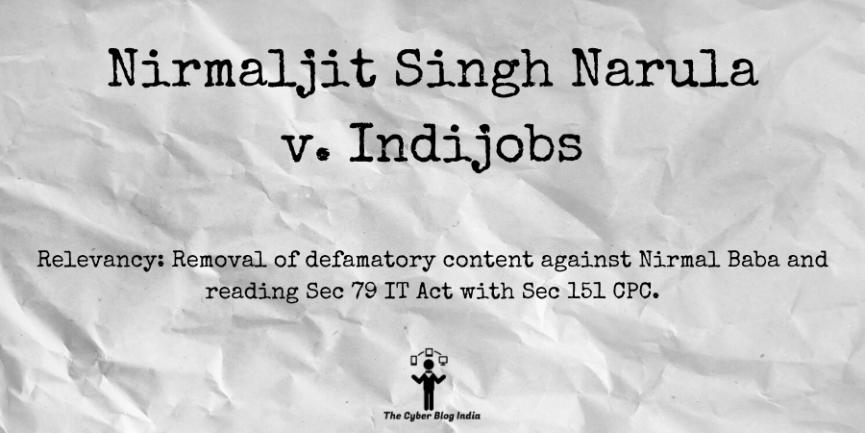 Nirmaljit Singh Narula v. Indijobs