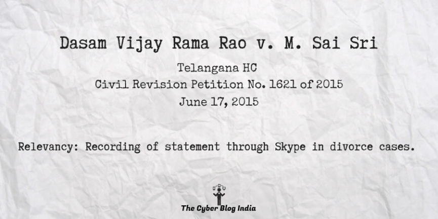 Dasam Vijay Rama Rao v. M. Sai Sri