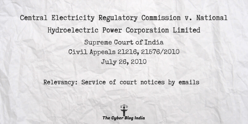 Central Electricity Regulatory Commission v. National Hydroelectric Power Corporation Limited