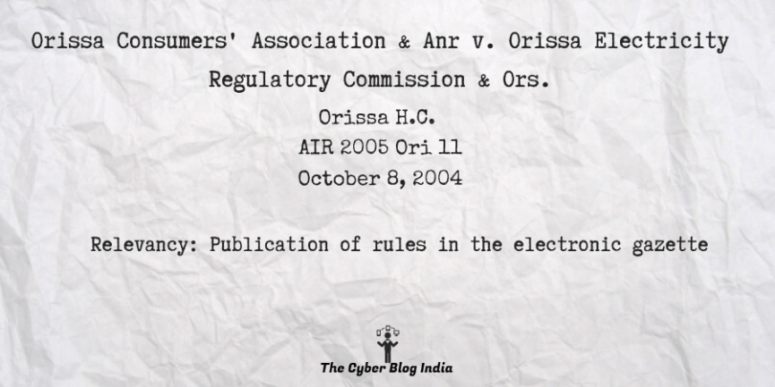 Orissa Consumers' Association & Anr v. Orissa Electricity Regulatory Commission & Ors.