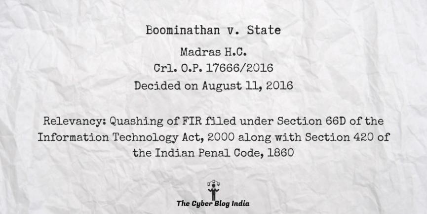 Boominathan v. State