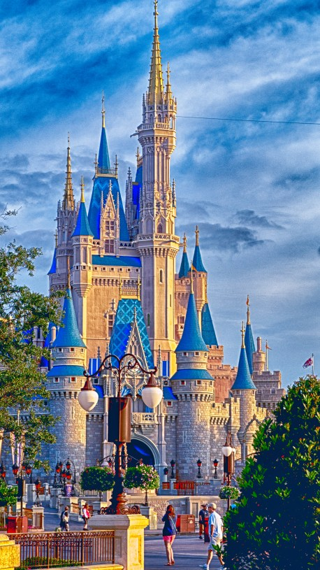 Magic Kingdom Cinderella's Castle Storybook 1-26-2017 HDR CROPED