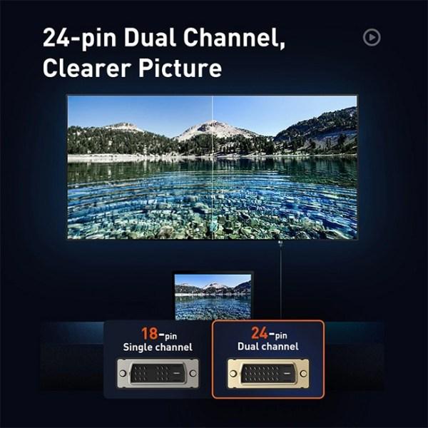 Baseus Enjoyment Series CAKSK ROG DVI Bidirectional Cable 5 2