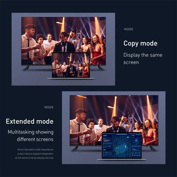 Baseus Enjoyment Series Display Port to 4K 60Hz HDMI Cable 3