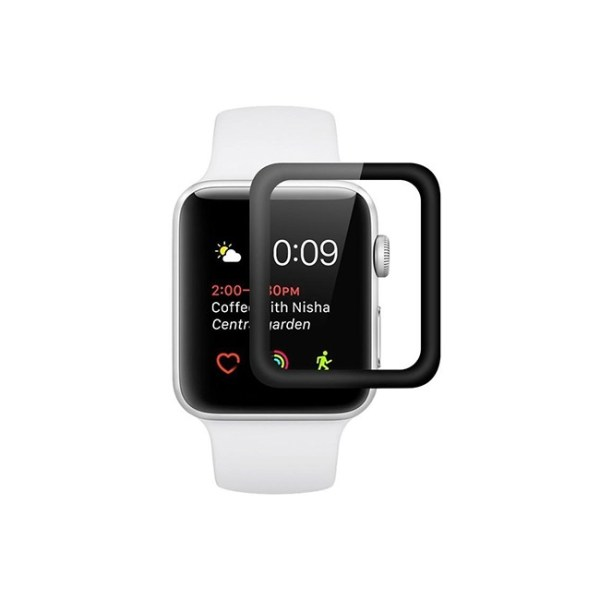 GREEN 3D Full Tempered Glass for Apple Watch Series 3 42mm