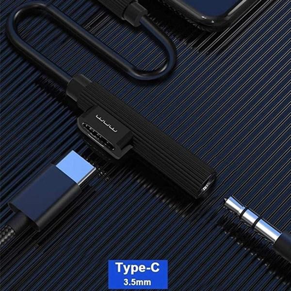 WUW X107 2 in 1 Type C Audio Adapter 2
