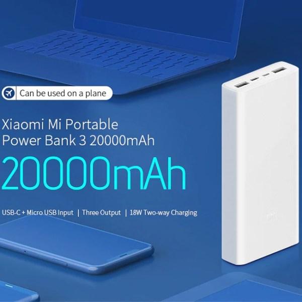 Xiaomi Mi 20000mAh Power Bank 3 2