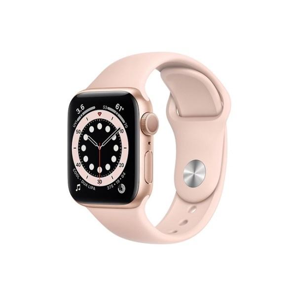 Apple Watch Series 6 42mm Gold Aluminum GPS Pink Sand Sport Band