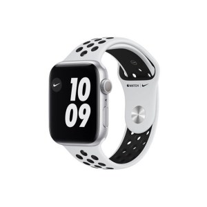 Apple Watch Series 6 Nike 44MM Silver Aluminum GPS Pure Platinum Black Nike Sport Band