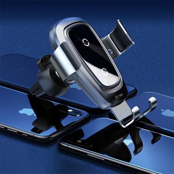 Baseus Metal Wireless Charger Gravity Car Mount Air Vent Version 2