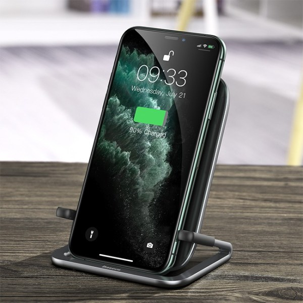 Baseus Rib 15W Horizontal and Vertical Holder Wireless Charger 3