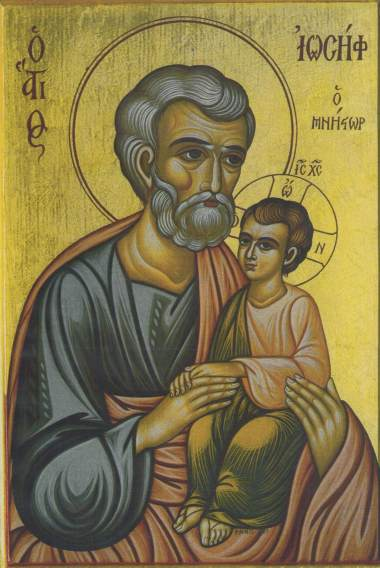 Icon of Saint Joseph the Betrothed painted by Sister Markella of Patmos