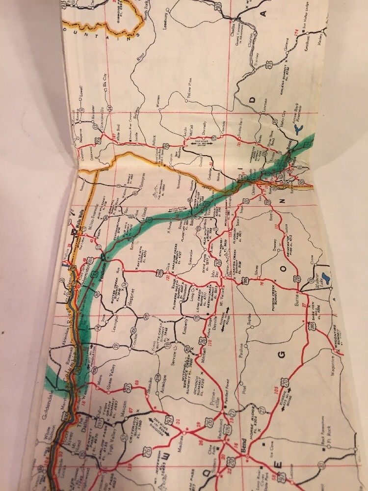 1940s SINCLAIR GASOLINE POWER-X Highway Road Map WESTERN UNITED ...