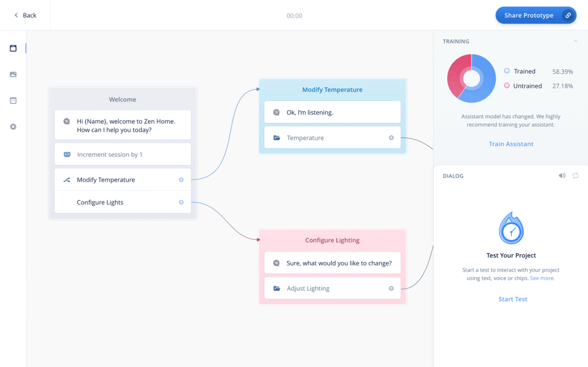 Voiceflow helps teams design, prototype and launch voice & chat bots.
