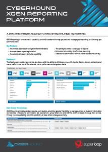 CyberHound's XGEN Reporting Data Sheet
