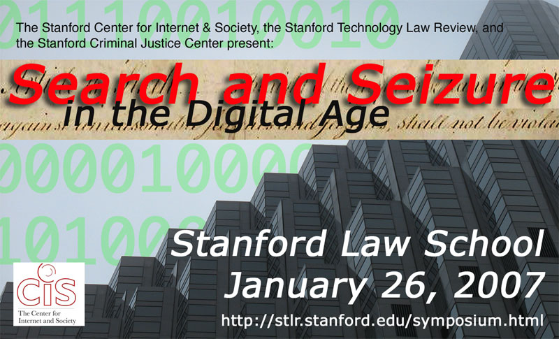 Registration Open For SLS Symposium 1/26/07: Search And