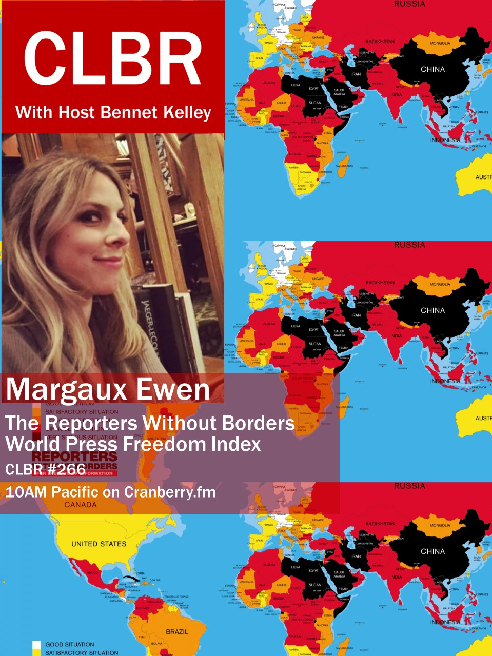 CLBR #266: RSF's Margaux Ewen on Cyber Censorship and Press Freedom