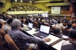 Asistentes a la inauguración del Primer Taller de Informatización y Ciberseguridad, en el Palacio de Convenciones, en La Habana, Cuba, el 18 de febrero de 2015. Foto: Abel Ernesto / AIN.