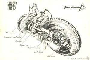 NSU 1958 Prima Drawing
