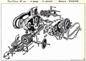 Parilla 1958 49cc Parillino Engine Diagram