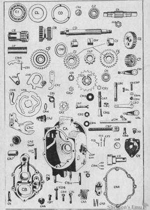 Velocette 1954 MAC Gearbox Diagram