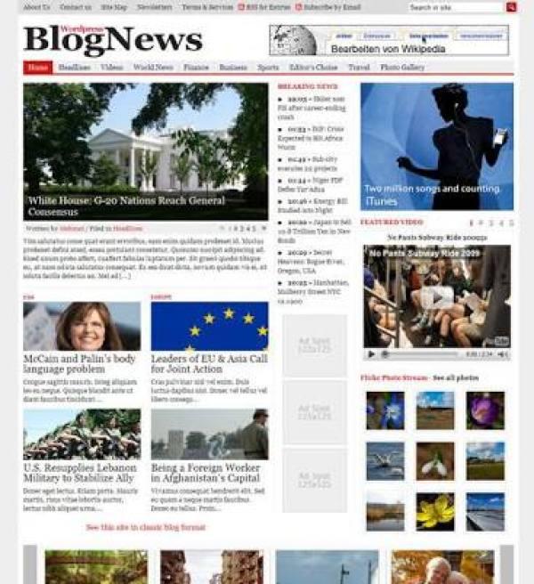 blognews pro theme