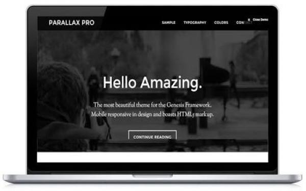 parallax pro theme review