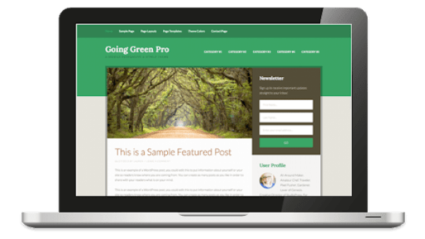 going green pro theme review
