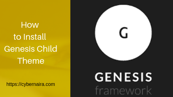 how to install genesis child theme