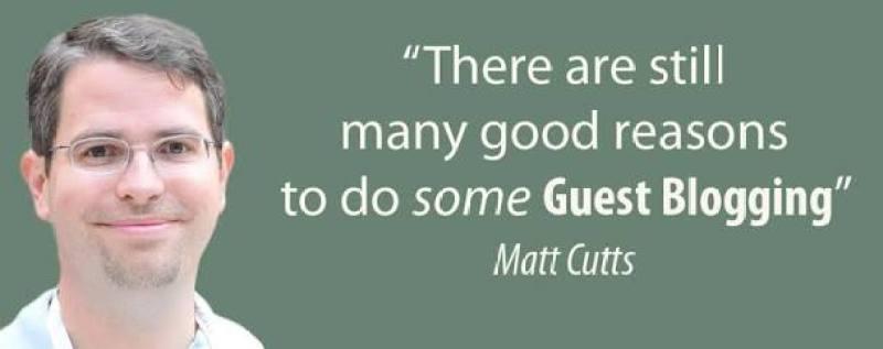 matt cutts guest blogging is done