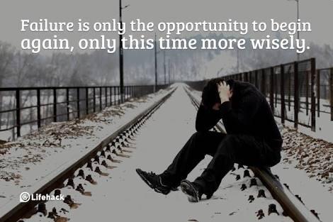 why blog fail - man sitting on railway