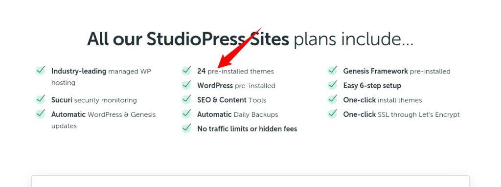 Studiopress sites features