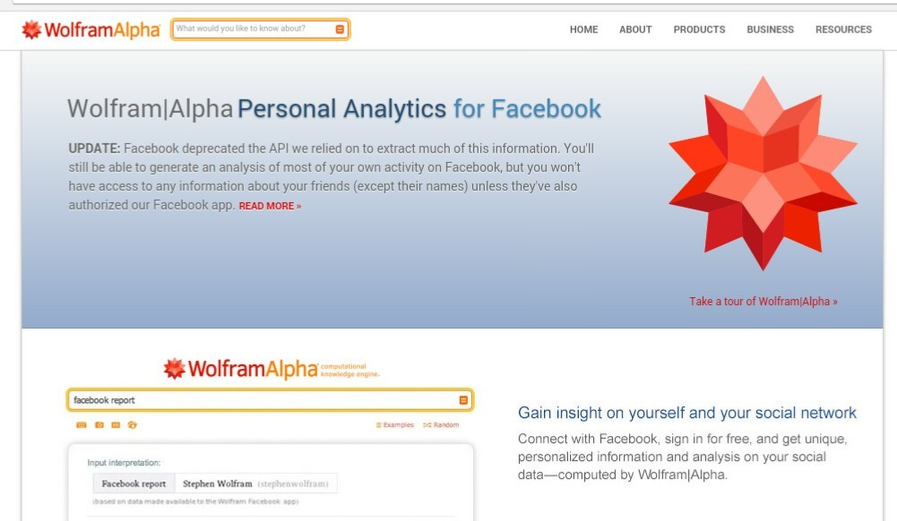 wolfram alpha facebook